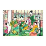 Shinagawa Brothel 1774 Canvas Print