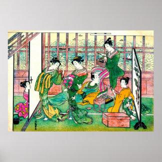 Shinagawa Brothel 1774 Poster