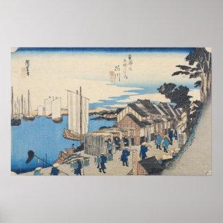 Shinagawa: departure of a Daimyo Posters