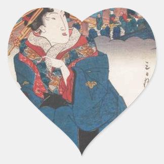 Shinagawa: Hot Tea by Keisai Eisen Heart Sticker