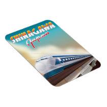 Shinagawa Japan travel poster. Magnet