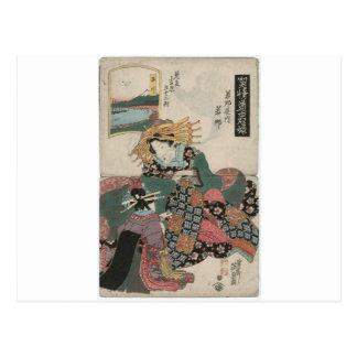Shinagawa: Wakana del Wakanaya de Keisai Eisen Postales