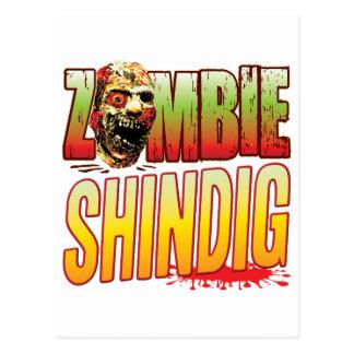 Shindig Zombie Head Postcard