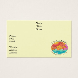 Shine a Light Business card 6