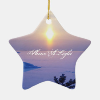"""""""Shine A Light-Peace On Earth"""" Ornament by Seay"""