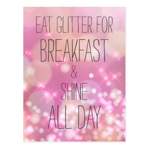 c1381c063251 Eat Glitter For Breakfast Invitations & Stationery | Zazzle