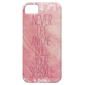 Shine and Sparkle Quote Girly Pink iPhone SE/5/5s Case