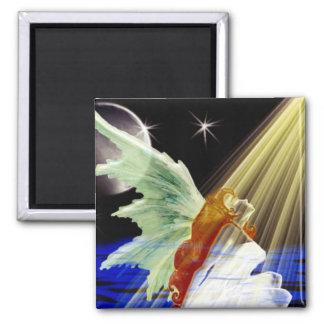 Shine Angel 2 Inch Square Magnet