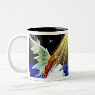 Shine Angel Two-Tone Coffee Mug