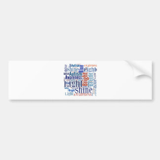 Shine Blue for Autism Products Bumper Sticker