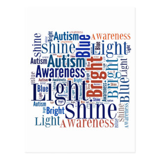 Shine Blue for Autism Products Postcard