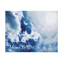 Shine Bright Blue Cloudy Sky Canvas Print