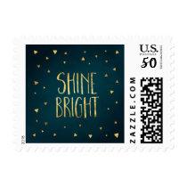 Shine Bright Gold Hanukkah Postage