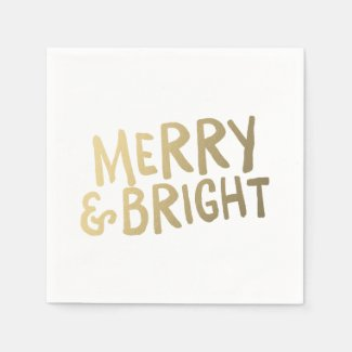 Shine Bright | Holiday Napkins Disposable Napkin