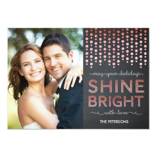 Shine Bright Holiday Photo Cards - Red
