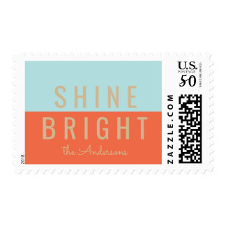 Shine Bright Holiday Postage