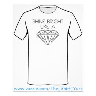 "Shine Bright Like a Diamond 4.5"" X 5.6"" Flyer"