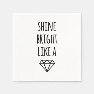 Shine Bright Like a Diamond Cocktail Napkins