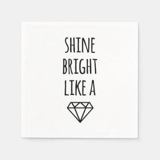Shine Bright Like a Diamond Cocktail Napkins Standard Cocktail Napkin