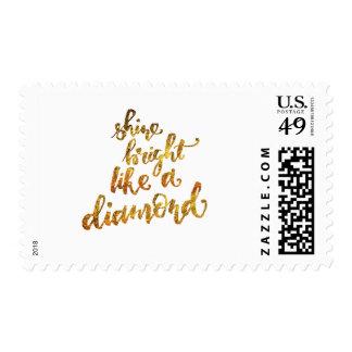 Shine bright like a diamond postage