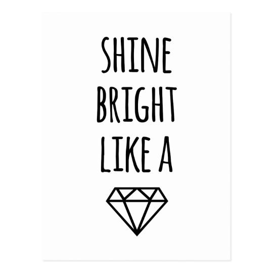 dimond lighting lyrics shine bright like a postcard zazzle 10208