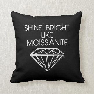 Shine Bright Like Moissanite Throw Pillows