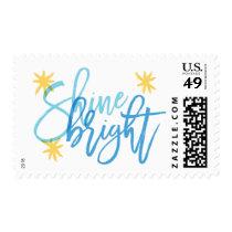Shine Bright Modern Calligraphy Holiday Stamp