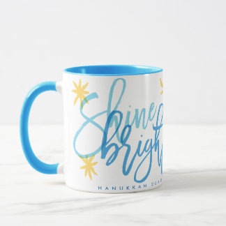 Shine Bright Modern Calligraphy Mug