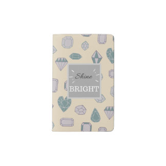 Shine Bright Pocket Notebook - Pale Pink
