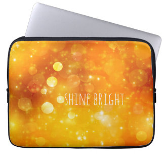 Shine Bright Quote with Sparkle Design Laptop Computer Sleeves
