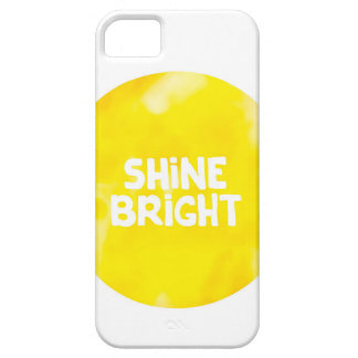 Shine bright sun inspiration typography quote iPhone 5 cover