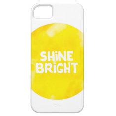 Shine Bright Sun Inspiration Typography Quote Iphone Se/5/5s Case at Zazzle