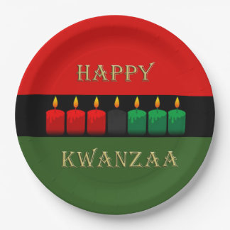 Shine Brightly Kwanzaa Party Paper Plates