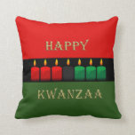 Shine Brightly Kwanzaa Throw Pillow