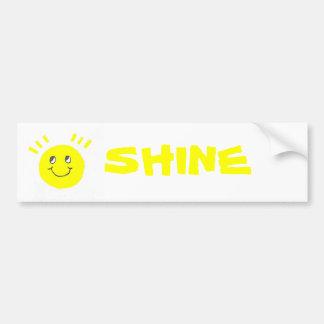 Shine Car Bumper Sticker