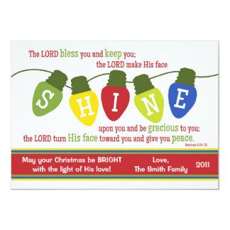 SHINE Christmas Lights 2-Sided Scripture Card