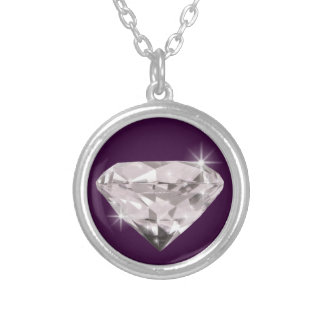 Shine Diamond Silver Plated Necklace