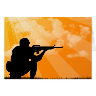 Shine down on Troops Greeting Card