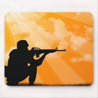 Shine down on Troops Mouse Pad