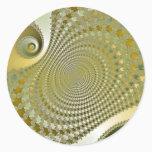 Shine - Fractal Classic Round Sticker
