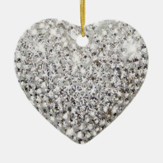 Shine heart adorn ceramic ornament