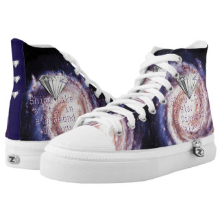 Shine Like a Star in a Diamond Galaxy High-Top Sneakers