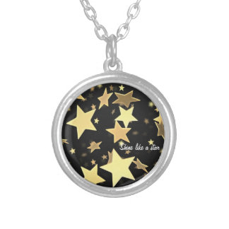 Shine like a star round pendant necklace