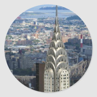 Shine Like the Chrysler Building Classic Round Sticker