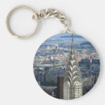 Shine Like the Chrysler Building Basic Round Button Keychain