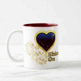 Shine On Alaska Two-Tone Coffee Mug