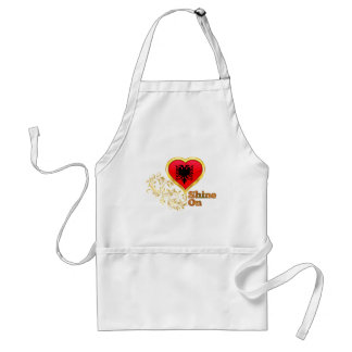 Shine On Albania Adult Apron