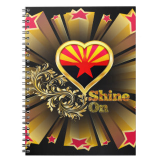 Shine On Arizona Spiral Notebook