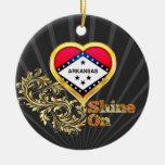 Shine On Arkansas Christmas Ornament