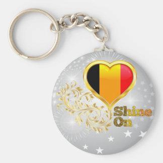 Shine On Belgium Basic Round Button Keychain
